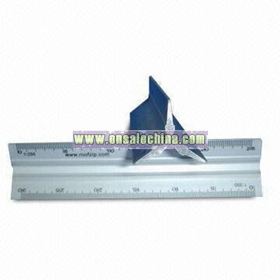 1 Triangle-shaped Aluminum Rulers