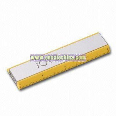 Flashing Ruler with 2 Bright LED Light