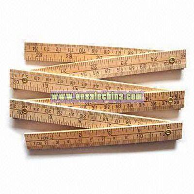 Wooden Folding Ruler 75cm