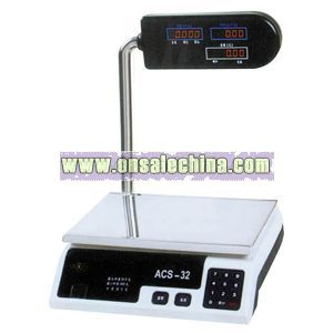 Electronic price scale with pole