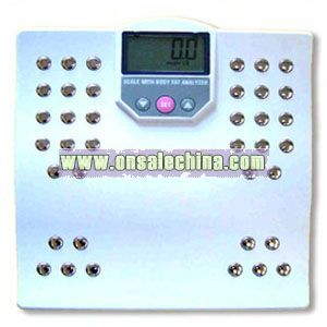 Body fat analyzer scale