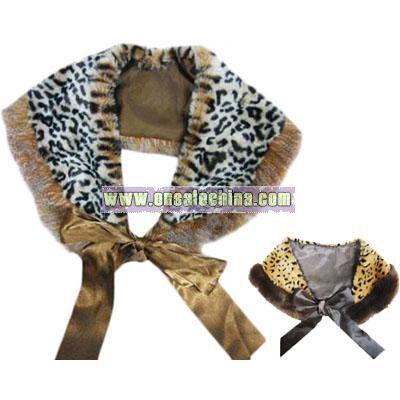Leopard Pattern Fur Scarf