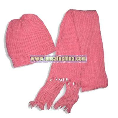 2-piece Knitted Winter Scarf