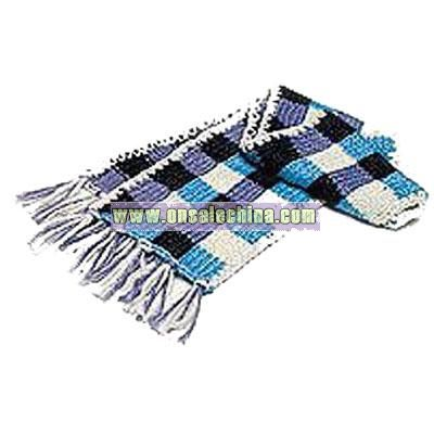 Multicolor Knitted Yarn Scarf