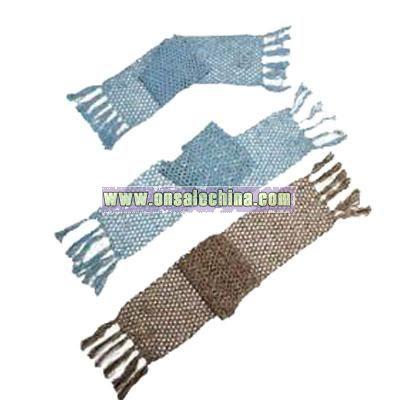 Hand-Crochet Yarn Scarf