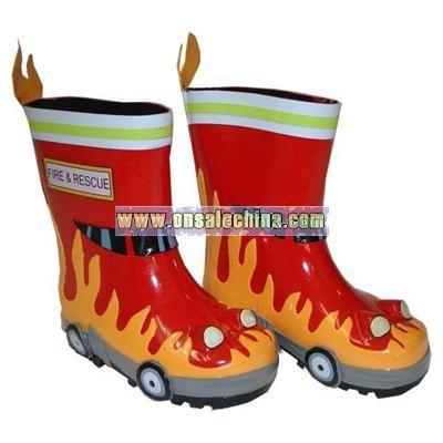 Children's Kidorable Fireman Rain Boots