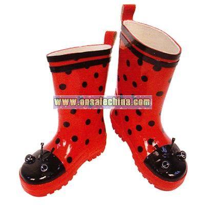 Children's Kidorable Ladybug Rain Boots