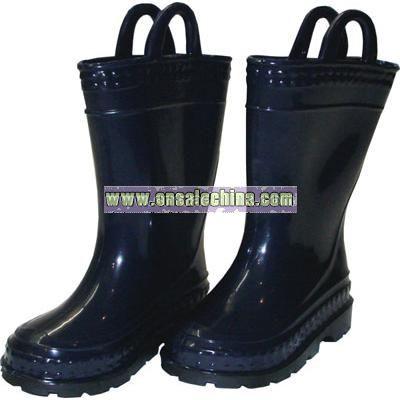 Children's Navy Rain Boots