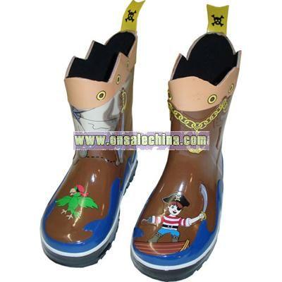 Children's Pirates Rain Boots