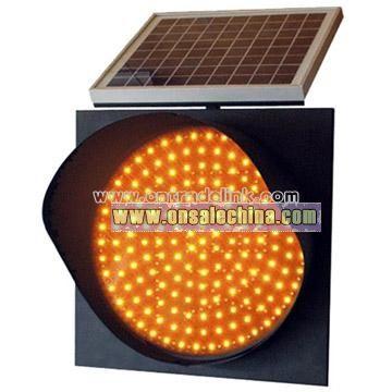 Solar Flashing LED Traffic Light