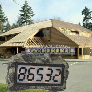 House Address Number Solar Light