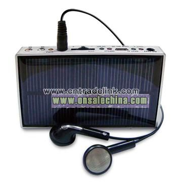 Solar Charger with MP3 Player