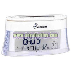 Solar thermo clock has time