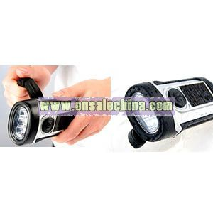 Solar LED Waterproof Flashlight