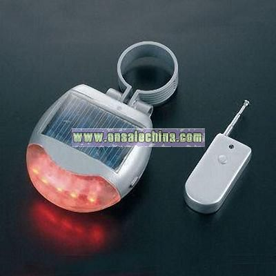 Solar Tail Light for Bicycle with Remote Control