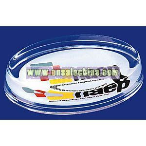 OVAL GLASS PAPERWEIGHTS