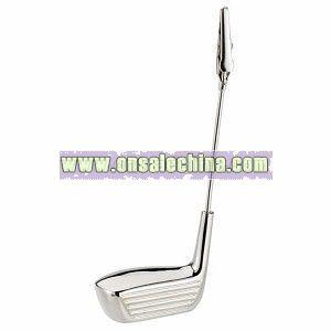 Golf Club Memo Holder