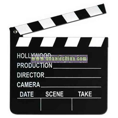 Movie set clapboard with chalk