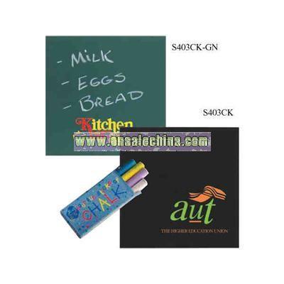 Green chalkboard trivet