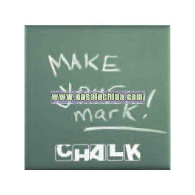 Green chalkboard tile
