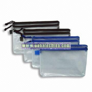 PVC Zippered Net Bag