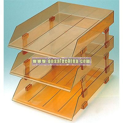 3 layer File Tray