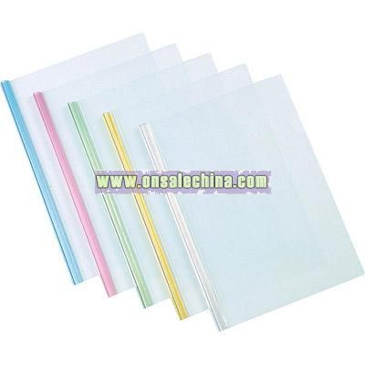 A4 transparent slide grip folder