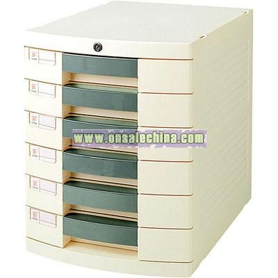 Side 6 layer File Cabinet With Drawers and Locks