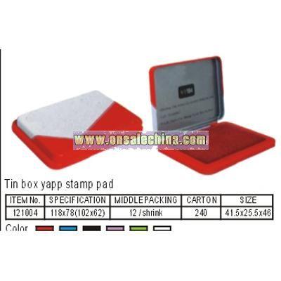 Tin Box Stamp Pad