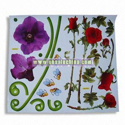 Non-toxic Wall Sticker with Removable Vinyl Film