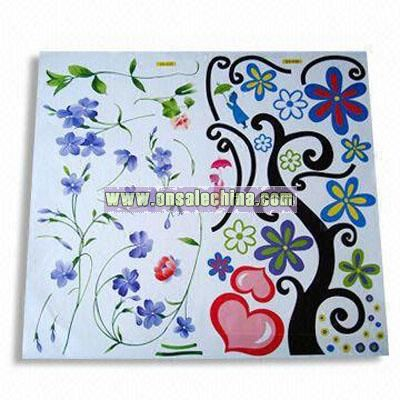 60 x 66cm Non-toxic Wall Sticker with Removable Vinyl Film and Paper Base