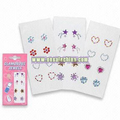 Crystal or Rhinestone Stickers with Non-toxic Glue