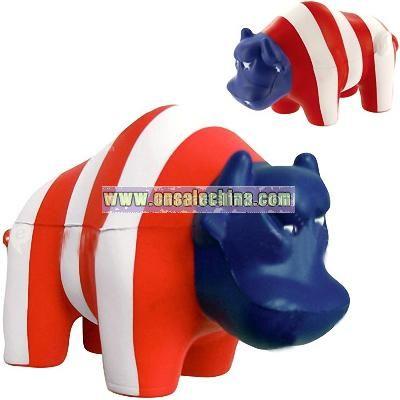 Wall Street Bull Stress Ball - Patriotic