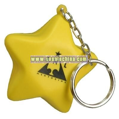 Star Stress Ball Key Chain