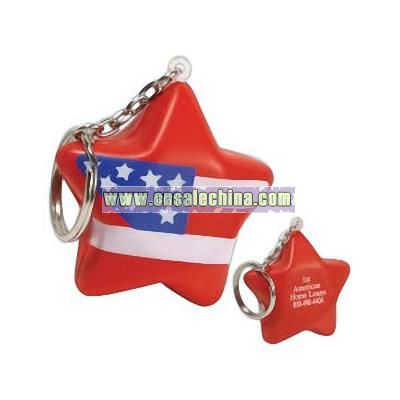 Stress Reliever Key Chain With A Flag Design