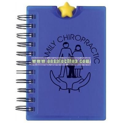 Stressball Notebook Star