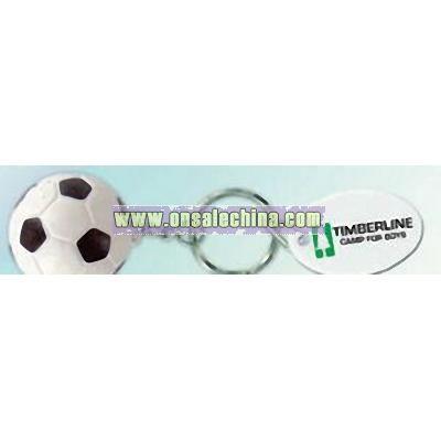 Soccer Stress Ball Sport Key Tag