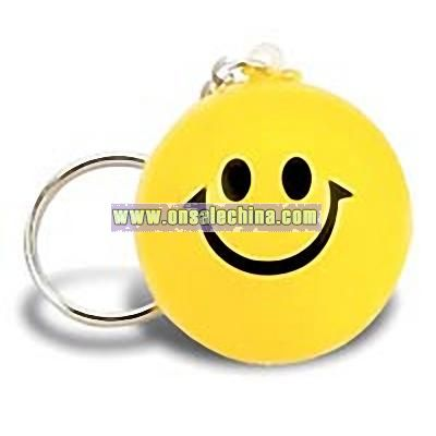 Smiley Face Key Chain Stress Ball
