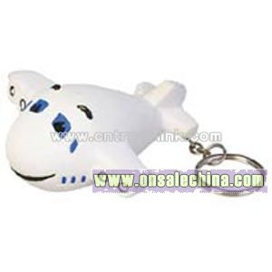 Airplane Key Chain Stress Ball