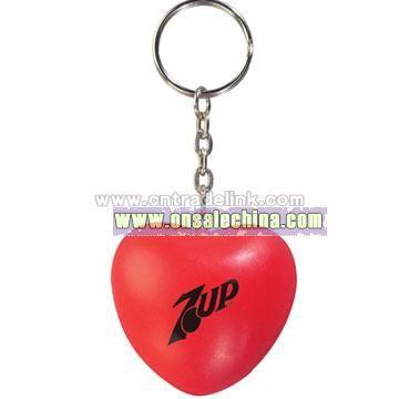Heart Key Chain Stress Balls