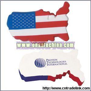 USA Map Stress Ball