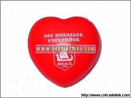 PU Valentine-Heart Stress Ball