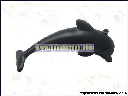 PU PORPOISE Stress Ball