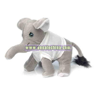 Stuffed 7 plush elephant with t shirt item no st9051738 stuffed 7