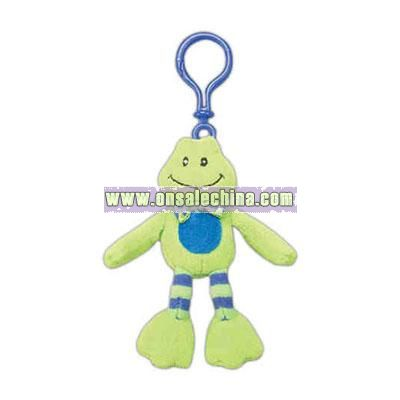 stuffed frog backpack clip