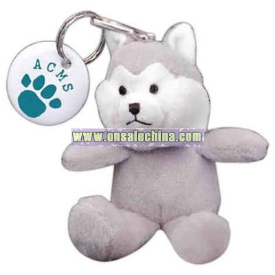 Huskie shape stuffed animal with Key chain
