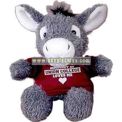 Donkey Stuffed animal with t-shirt