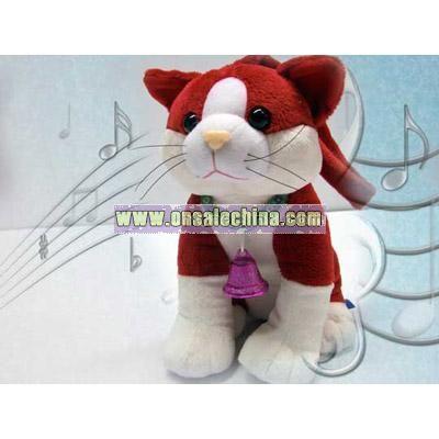 Music stuffed Red Cat