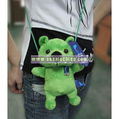 Plush Satchel green bear