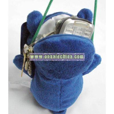 Satchel blue Stuffed bear